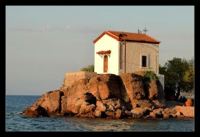 Chapel In A Little Harbor Skala Sykaminia by skarzynscy