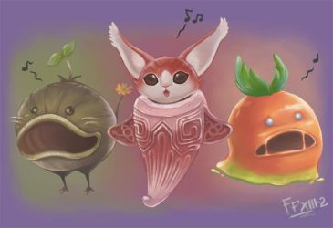 Final Fantasy XIII-2 Monsters' Singing by winuy