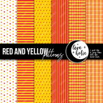 Red and Yellow Patterns by AveholicD