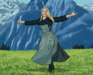 Sound of Music Digital Painting by BrittanyMichel