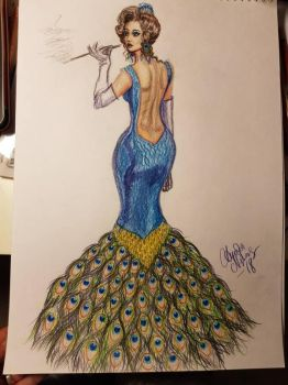 peacock lady by tonez2