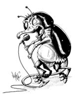Dung Beetle Singing Shrew Cross Breed by OuthouseCartoons