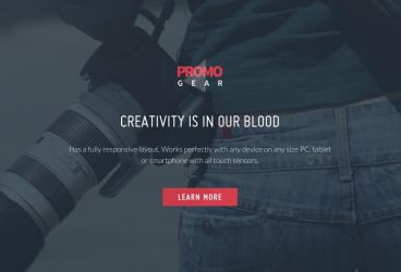 PromoGear Creative One Page Multipurpose Theme by Itembridge