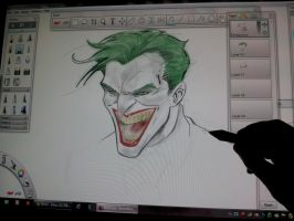 sketch on wacom cintiq 24hd by Sajad126