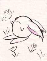mokona and the butterfly by LinearMango