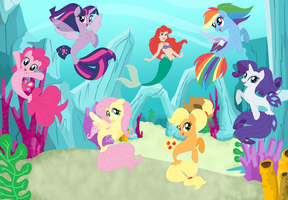 Ariel and the Seaponies by user15432