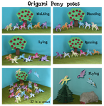Origami Pony poses by Malte279