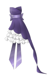 Purple prom dress :coloured by CandyApplePie