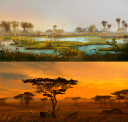 Land of birth - abundance and drought by Roiuky