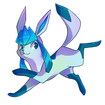 Glaceon by Nyankyuu