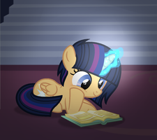Reading a book by alizeethepony2008