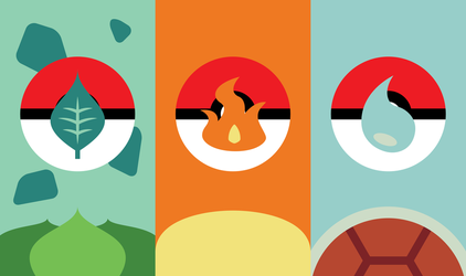 Pokemon Starters Phone Background by UrLogicFails