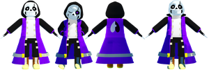 MMD Epic!Sans (DL) by KittyNekkyo