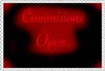 Commisions open stamp by JewlArtGamez