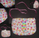 Cupcake Shoulder Messenger Bag by louisalulu
