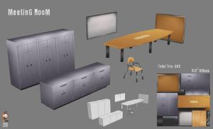 Low Poly MeetinG RooM Objects by Imogia