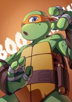 TMNT 2012 Mikey by YonYonYon