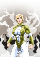Power Girl - Gold Costume by adamantis
