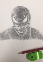 Venom Drawing by HeroGollum