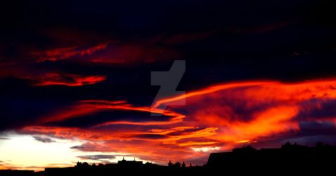 Burning Clouds by Kunsttherapie