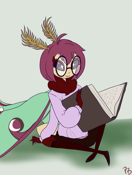 Book Worm~ by ThePlagueBunny
