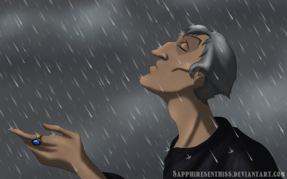 Frollo In The Rain by Sapphiresenthiss