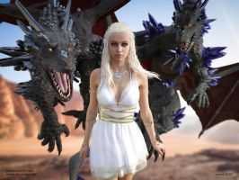 Daenerys Mother of Dragons (Game Of Thrones) by Vizzee