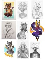 Anthrocon 2016 Commissions by ShyCustis