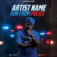 Run From Police - Mixtape CD Cover - Free PSD by KlarensM