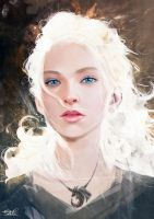 Light Study#058 - Daenerys Targaryen Fan Art by Razaras