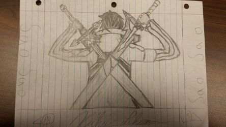 Kirito from a pencil by xDREAM-EATERx