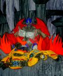 Fall of Cybertron PRIME MODE by InkArtWriter
