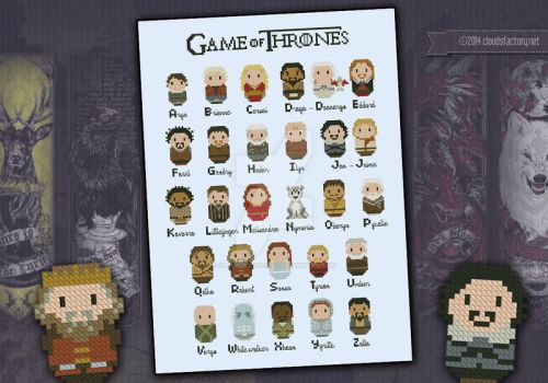 Mini People - Game of Thrones alphabet by cloudsfactory