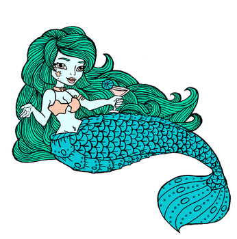 Martini Mermaid by otter-faerie