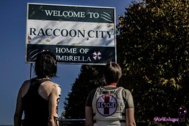 Billy and Rebecca, 'finally in Raccoon City' by Eladiah