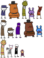 (Five) Nightstuck: Sprites by sundayfluff