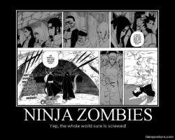 Ninja Zombie Demotivational by PsychoDemonFox