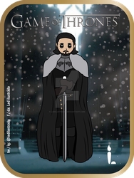 Jon Snow - Game of Thrones. by Ledilustrado
