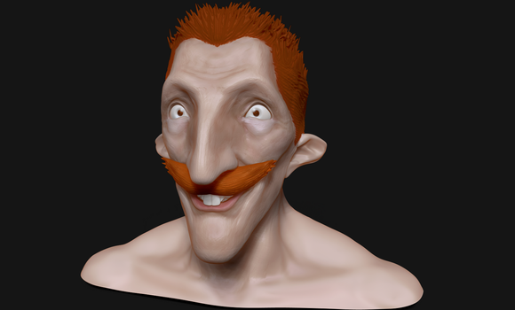Zbrush - Nigel Thornberry Head Sculpt by GraphiteGrey