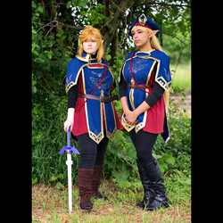 Royal Guard Zelda And Link by CosplayBanzai