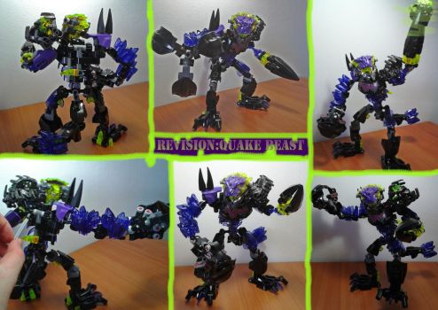 Bionicle G2 Revision:Quake Beast by Trimondius01