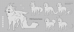 Canine chibi base - P2U 17 by Shinzessu