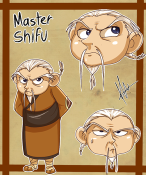 Human Shifu by yuramec