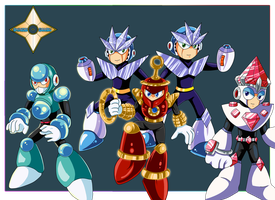 The Robot Masters of Luxury by Shinobi-Gambu