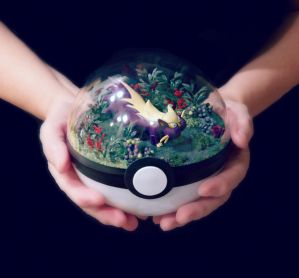 Stunky Forest - Poke Ball Terrarium by TheVintageRealm