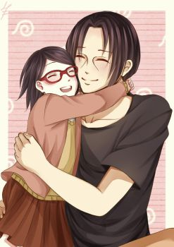 Itachi and Sarada by Ellinot