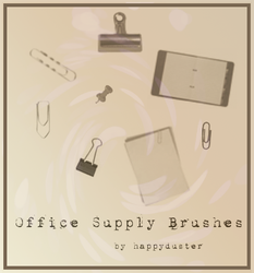Office Supply Brushes by happyduster