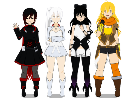 Team RWBY (with codes!) by TheLastGallant