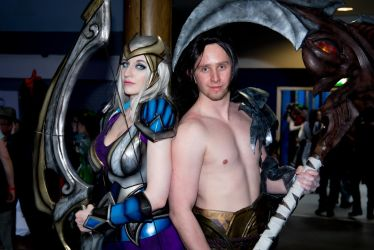 CosXpo 2018 - 137 Ashe and Kayn by cosmicnut