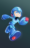 Megaman Fully Charged (classic) by Estefanoida